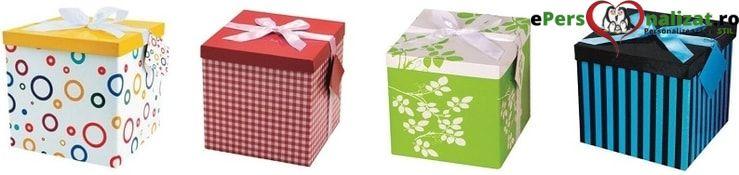 cutii cadou medie cu fundita de satin