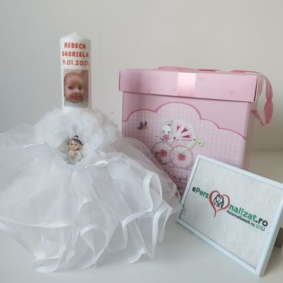 Trusou botez fetita personalizat si cu cutie trusou