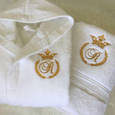 Cadou pentru Bianca halat si prosop personalizate