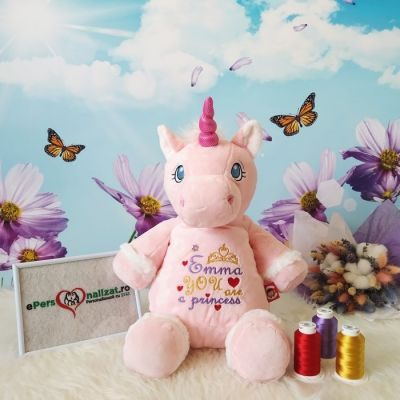 Unicorn roz personalizat