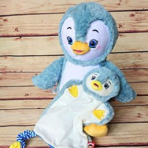 Set pinguin plus si pinguin jucarie personalizate