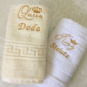 set prosoape personalizate king queen