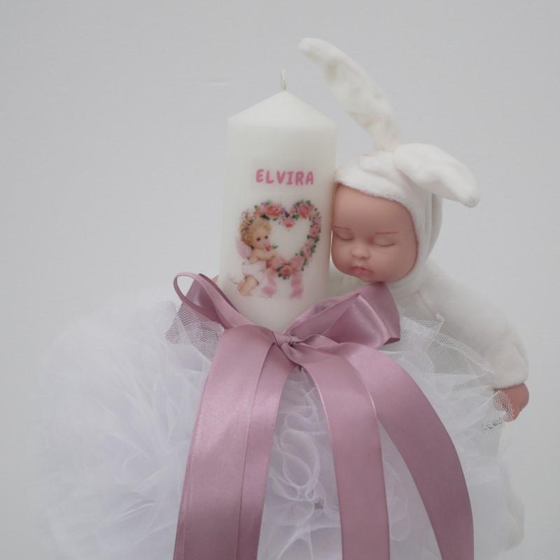 Lumanari de botez personalizate, cu bebelus